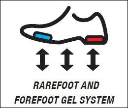 Rearfoot and Forefoot GEL® (Система ASICS GEL® Амортизация)